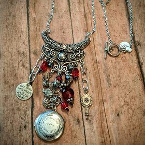 Jewelry - Nwt Handcrafted Alice in Wonderland Charm Locket